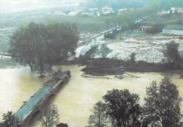 11 - LUC SUR ORBIEU / INONDATIONS 1999 - PONT EMPORTE PAR LA CRUE - Autres Communes
