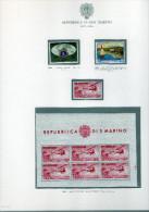 San Marino - Collezione Nuova Cpl. 1959/2018 PO, PA, Foglietti, Carnet - 4 Album - 330 Ca. Fogli Bolaffi - Collezioni & Lotti