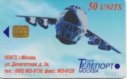 RUSSIA PHONECARD AIRPLANE -USED - Avions