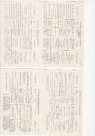 Lot De 4 Cpa - CARTE GENEALOGIQUE (de SOUVERAINS) - Genealogie