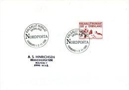 GROENLAND. Enveloppe Commémorative De 1986. Nordposta Hamburg. - Filatelistische Tentoonstellingen