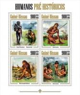 Guinée Bissau Guinea (2013) - Hommes Préhistoriques Prehistoric Men : Homo Floresiensis, H. Erectus, H Neanderthalensis. - Preistoria
