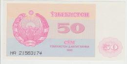 Uzbekistan 50 Sum 1992 Pick 66 UNC - Oezbekistan
