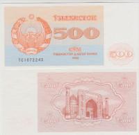 Uzbekistan 500 Sum 1992 Pick 69b UNC - Uzbekistán