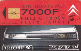 T6 - France Phonecard 1/93,  50 Units, Citroen, Used (2 Scans) - Frankrijk