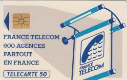 T7 - France Phonecard 600 Agences, 50 Units, Used (2 Scans) - Frankrijk
