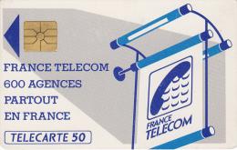T8 - France Phonecard 600 Agences, 50 Units, Used (2 Scans) - Frankrijk