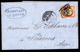 A3066) France Frankreich Brief Von St. Quentin 28.05.1875 - 1870 Besetzung Von Paris