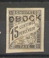 Obock-  15c Chiffre Taxe_ Signé Brun (1892 )