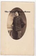 1915 - SUZE LA ROUSSE - CARTE PHOTO MILITAIRE - 14 EME BATAILLON DE CHASSEURS 13 EME CIE 1ERE SECTION - FREMOND FERNAND - Personnages