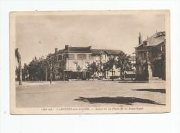 Cp , 03 , VARENNES SUR ALLIER , Angle De La Place De La République , écrite 1938 , Ed : La Cigogne - Autres Communes