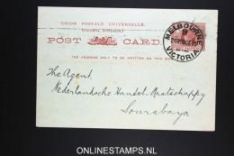 Victoria Postcard  Used Private Printed 1910 Bank Of Australia - 1850-1912 Victoria