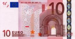 EURO NETHERLANDS 10 P TRICHET G013 UNC - EURO