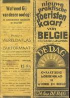 Kaart Belgie + Provincies Carte Belgique - Uitgave DE Dag Antwerpen - Reclame Bell Telefoon - Geographical Maps