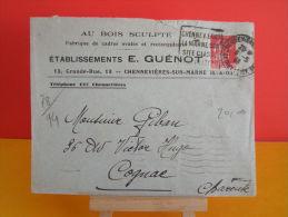 Flamme - 78 Yvelines, Chennevières Sur Marne ( Seine & Oise ) - 6.5.1936 - Marcophilie (Lettres)