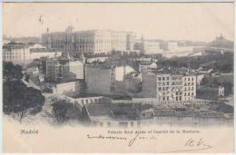 24785g MADRID  - Palacio Real Desde El Cuartel De La Montana - 1906 - Madrid