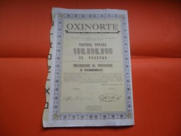 OXINORTE (1963) BILBAO , ESPAGNE - Shareholdings
