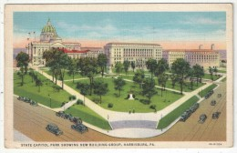 State Capitol Park Showing New Building Group, Harrisburg, Pa. - 1936 - Harrisburg