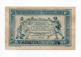 Trésorerie Aux Armées - 50 Cts - N° 0056728 - A - Treasury
