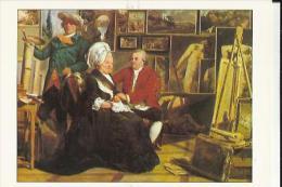 Carte Glacée Du Peintre Dans Son Atelier Avec Ses Parents (de Sablet J  H  Né A Morges Suisse 1749 Mort A Paris 1803 La - Museum