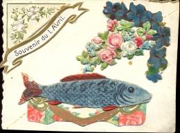 Chromo - Souvenir De 1 Avril - Aprilvis - Découpis