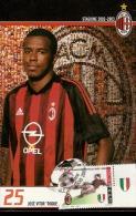 MILAN CAMPIONE D´ITALIA 2002-2003 CON ANNULLO PRIMO GIORNO MILANO CORDUSIO - JOSE VICTOR ROCHE JUNIOR - Equipos Famosos