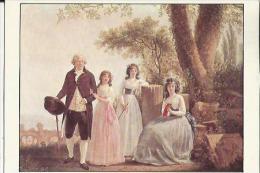 Carte Glacée De Portrait De Famille (de Sablet F J   Né A Morges Suisse 1745 Mort A Nantes 1819) Huile Sur Toile 1791 - Museum