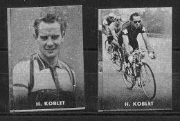 "03155 ""CICLISMO - H. KOBLET - COPPIA DI FIGURINE NANNINA, 1952"" FIGURINE ORIGINALI CARTONATE - Ciclismo"