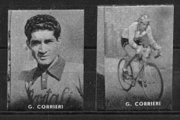 """03157 """"CICLISMO - G. CORRIERI - COPPIA DI FIGURINE NANNINA, 1952"""" FIGURINE ORIGINALI CARTONATE - Ciclismo"""