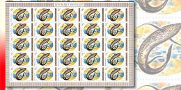 Rwanda 0550**  40Fr  Poissons -  Feuille / Sheet de25 MNH