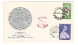 FDC Vaticano San Benedetto Patrono D' Europa 1964 - FDC