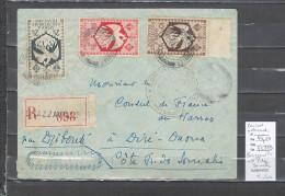 Congo - Cachet  De Brazzaville - France Libre -1945  - Pour La Cote Des Somalis - Douane Au Verso - Marcophilie AEF - Brieven En Documenten