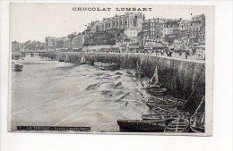 """PUBLICITE -  Chocolat """" Lombart """" Le Tréport - Le Port à Marée Basse - Reclame"""
