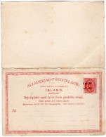 TB 667 - Islande - Carte Postale Avec Réponse Payée - Entier Postal -  Neuf - Entiers Postaux