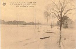 CPA - Liège - Crue De La Meuse 1925-1926 - Vue Prise Vers Le Quai Saint-Léonard Et La Fonderie De Canons  - - Liege