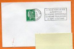 94 ALFORVILLE  LE VAL DE MARNE EN FETE   14 / 8 / 1972 Lettre Entière N° L 702 - Annullamenti Meccanici (pubblicitari)