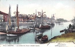 (33) Libourne - Les Bords De L'Isle à Marée Haute - Bâteaux Boats Voiliers - 2 SCANS - Libourne