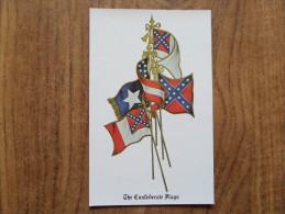 42655 POSTCARD: USA: The Confederate Flags. - Etats-Unis