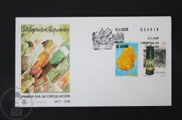 FDC Topic Cover - 1996 Edifil 3408 / 09 - Spanish Minerals - Stamps