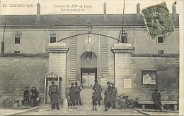 92-63 CPA     COURBEVOIE  Caserne Du 1189 De Ligne Entrée Principale Militaire    Animation Belle Carte - Courbevoie