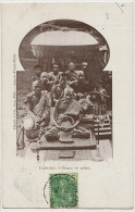 Bonzes En Priere Edit Claude Timbrée Saigon 1905 - Cambodge