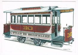 28508 ( 2 Scans ) Remorque - Bijwagen  1876 - Tramways