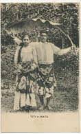Titi Et Mata Tahitienne Vahiné Edit F. Homes - Tahiti