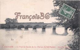(33) Libourne - Le Pont Du Chemin De Fer Passage Du Sud Express - Train Tren Locomotive - 2 SCANS - Libourne