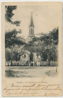 Tahiti La Cathedrale De Papeete Timbrée 1904 Vers Noumea Nouvelle Caledonie - Tahiti