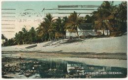 A Coral Island Oceania  P. Used Stamped To Sydney Australia Edit F. Homes - Tahiti