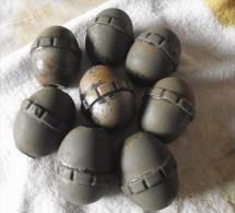 Lot De 8 Grenade Oeuf - 1914-18
