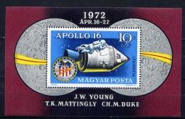 HUNGARY 1972 №2812 APOLLO-16 - Space
