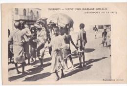 DJIBOUTI. - Scène D'un Mariage Somalis ( Transport De La Dot). Carte Très RARE - Somalie