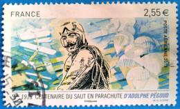 France 2013  : Centenaire Du Saut En Parachule D´Adolphe Pégoud N° 76 Oblitéré - 1960-.... Gebraucht